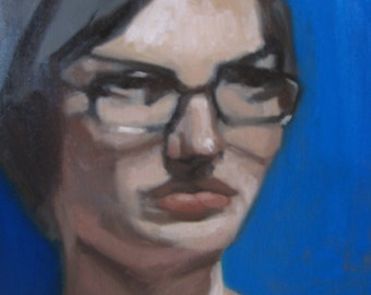 Katherine, Female Portrait Painting - original oil painting - 11x14 oil on canvas