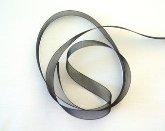 Nylon black organza style Ribbon