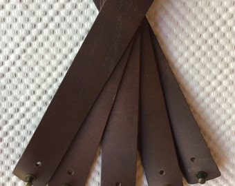 Leather Cuff Bracelets Brown and Black Adjustable
