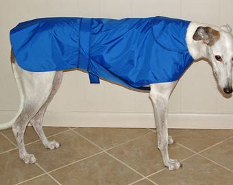 R8 Light Weight New Blue Greyhound Raincoat.  Free Shipping!
