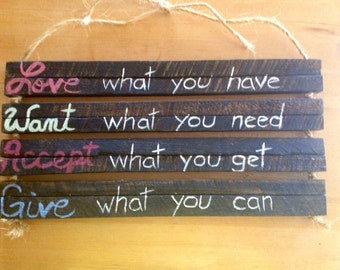 Custom Quote on Wood, Wood Wall Hanging, Wood Wall Art, Rustic Home Decor, Farmhouse Decor, Custom Wood Signs, Wooden Sign, Custom Sign