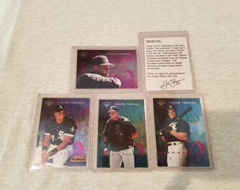 1996 Leaf Frank Thomas Charity Card Promo  #35  HTF Frank Thomas mail in card set NM/MT