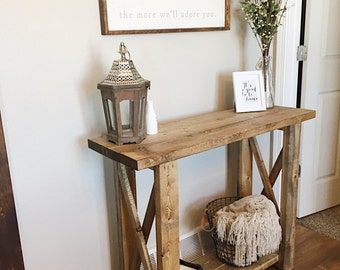 Farmhouse Foyer Table Decor : Entryway table console sofa farmhouse decor