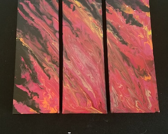 Midnight fire | Acrylic Pour Painting