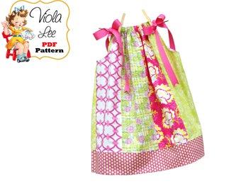 Pillowcase Dress Pattern. Girls Dress Pattern. Toddler Pattern. Girls Sewing Pattern, Toddler Sewing Pattern, Girls Dresses, pdf Annie