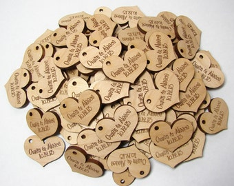Heart Hang Tags Custom or Personalized