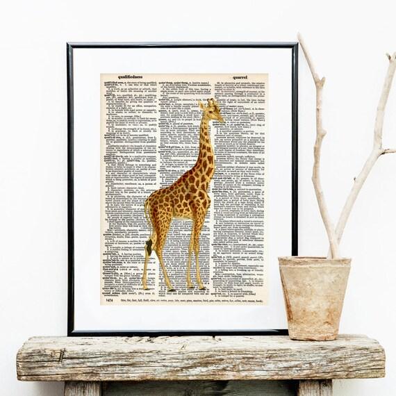 L mina de diccionario jirafa laminas para ni os decoracion for Laminas de decoracion