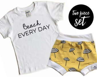 Beach Everyday + Beach Umbrella Shorties Set