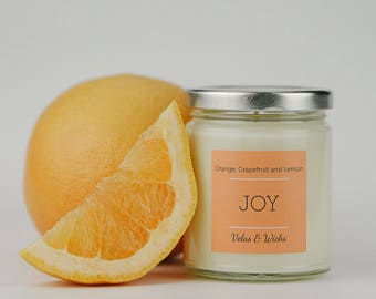 Orange, Grapefruit and Lemon // 8oz Natural Soy Candle