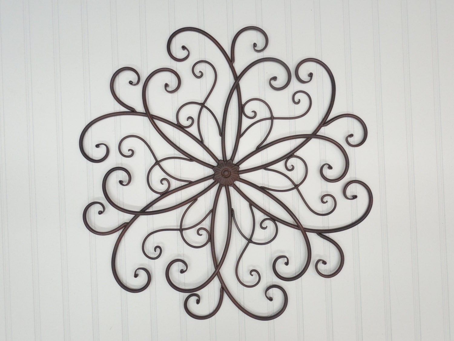 White Iron Wall Decor Metal Wall Scrollwall Decorbohemianmetal Wall Decorrustic