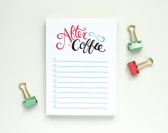 Funny Notepad Stocking Stuffer - To-Do List, After Coffee