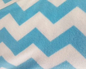 Chevron Pattern Print Fleece Fabric by David Textiles by the yard