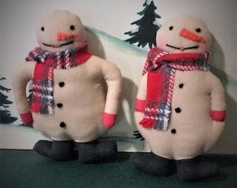 Little Old Fashion Christmas Snowmen Ornaments