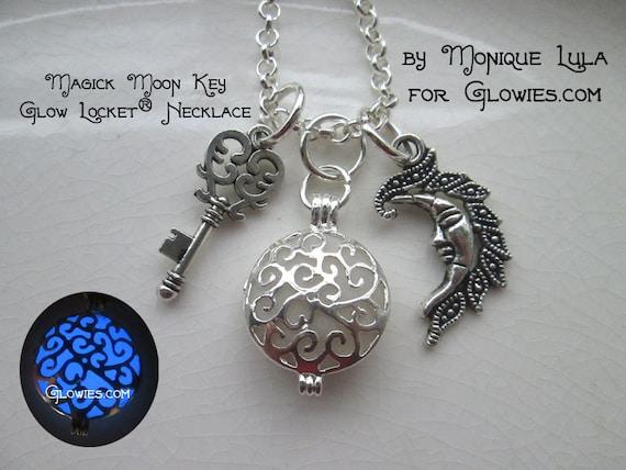 Magic Moon Key Glow Locket® Necklace