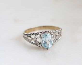 Blue Crystal Ring - Size 9.5