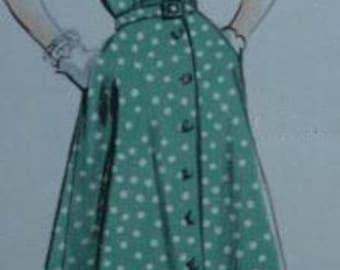 SWING vintage reproduction dress swing full skirt custom made all sizes 40s, 50s