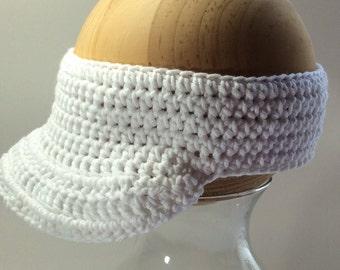 Crochet Sun Visor, Teenager Visor, Sports Visor, Brim Headband, Summer Visor, Headwrap Visor, Small Adult Visor, Golf Visor, Tennis Visor