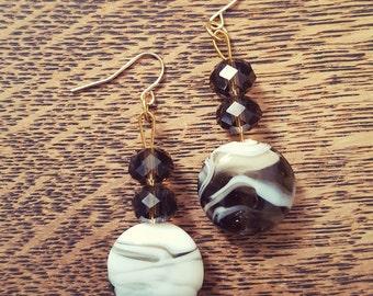 Chocolate Swirl Earrings
