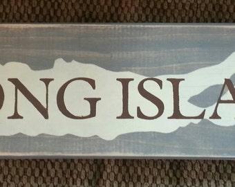 Long Island map sign