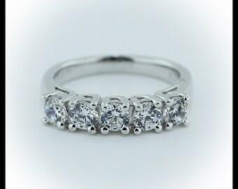 Five Stone Diamond Band  1 Carat Petite Embrace