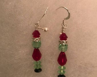 Grinch Christmas Earrings