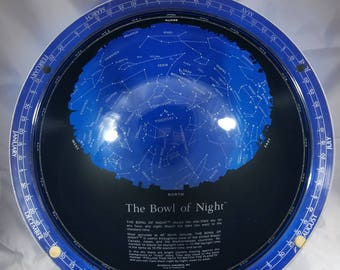"The Bowl of the Night This a rare transparent Two Piece globe called ""The Bowl of Night"" Aids in Star Gazing."
