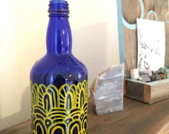 "Bespoke Art Piece, Doodle on Object, Bottle Doodle, One of a Kind Art, Sculpture - ""Doodle Object #2"""