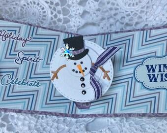 Carte pop up , pour Noël , faite main