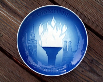 Olympic Games 1972 Plate Olympiade Munchen Made in Denmark
