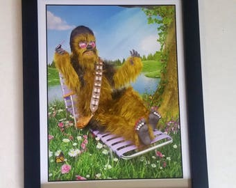 Chewbacca Painting His Nails