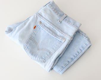 70s faded 684 bell bottom jeans - orange tab Levis bell bottoms / vintage 70s Levis bellbottom jeans / soft faded denim - 70s vintage flares