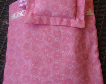 Pink bedding for your Barbie cotton fabric