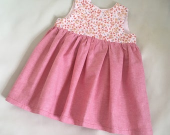 Baby Dress, Handmade Baby Girl Dress, Baby Party Dress, Baby gift 0-3 months