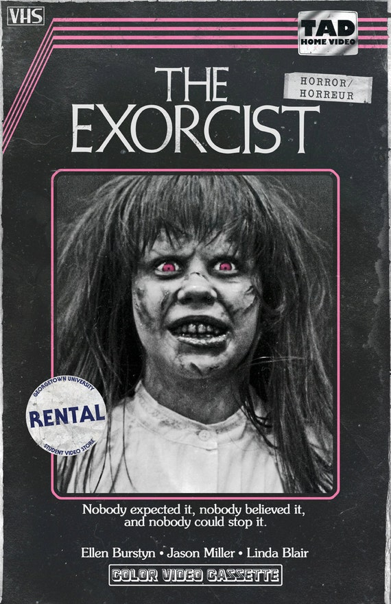 Exorcist Vhs Movie Poster 11x17