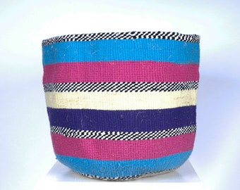 Handwoven Chunky Knit Baskets: Pink and Red Collection