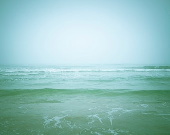 Soft Ocean Print | Nature Photography Ocean Art Wall Decor Waves Blue Teal