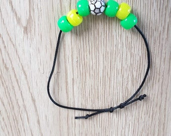 10 Soccer - Beaded Futbol  Friendship Bracelet Party Favors. Beads arer negotiable. Inspired by famous soccer teams.