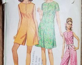 """Vintage Pantdress Pattern Simplicity 7139 Size 14 Bust 34"""""""