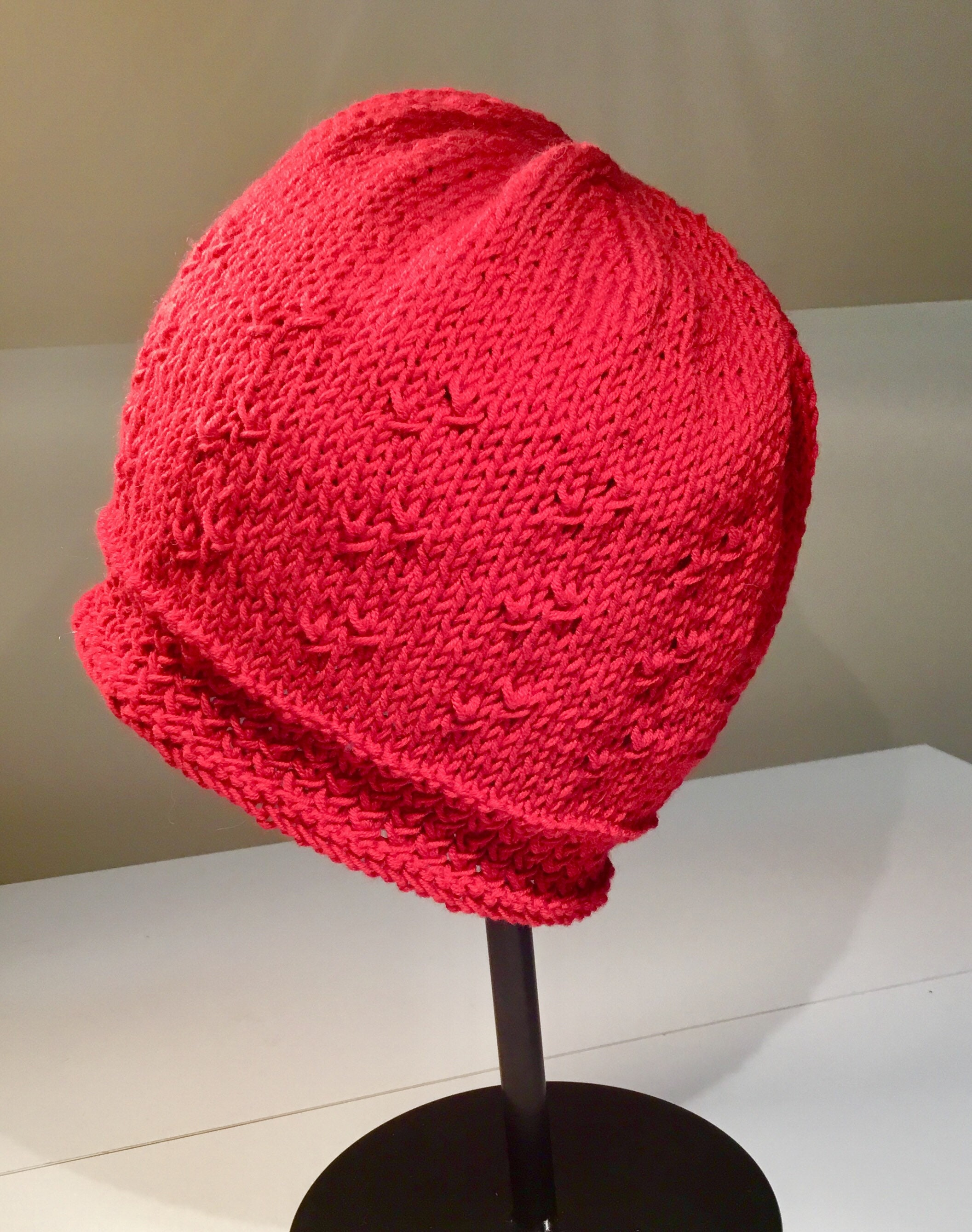 Summer knit hat/spring hat pattern/chemo hat pattern/hat pattern for ...