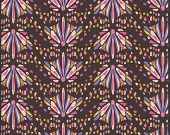 Art Gallery Bijoux Into the Wild Cedar - Bij 4706 - brown purple pink gold- 100% Premium Cotton - 7.5 Yards In Stock