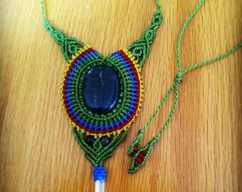 Ethnic pendant in Macrame