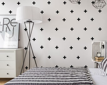 Plus sign Wall Decal - Swiss Cross wall Decal - Cross decals - Swiss Cross Decals - Wall Decals - Pattern Decals - Plus Sign Decals