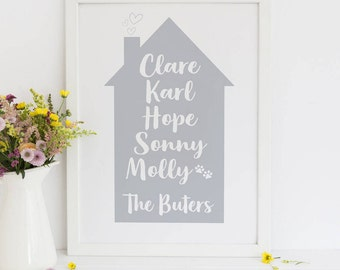 New Homeowners, Family Home Gift, House Warming Gift, Gift For Mum, Home Decor, New Home Gift, Mothers Day, First Home Gift, Our First Home