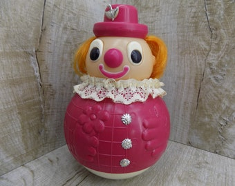 Vintage Roly-Poly Ding Doll Nevalyashka Soviet vintage toy Made in USSR 70s Roly-Poly clown Soviet Clown