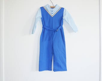 Vintage Blue Polyester Outfit