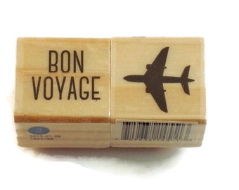 Mini  Rubber Stamp Set -  Bon Voyage