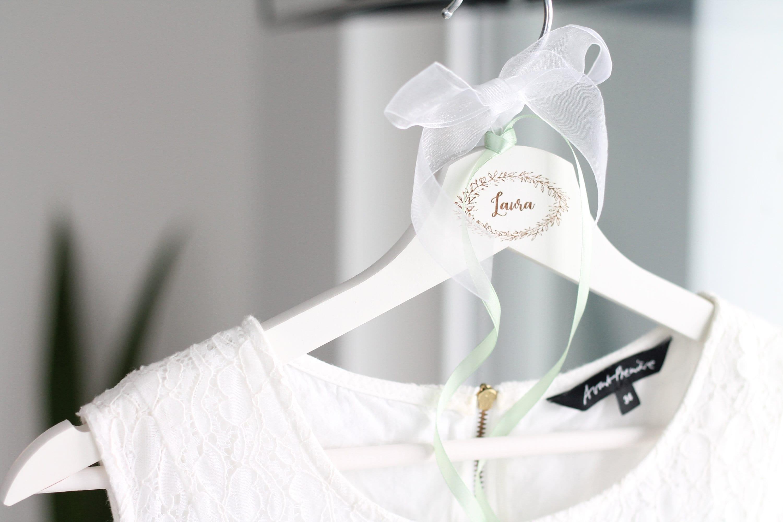 personalisierter KLEIDERBÜGEL für Brautkleid Brautjungfrau