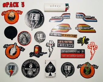 Pack of stickers by San Diego Chopper