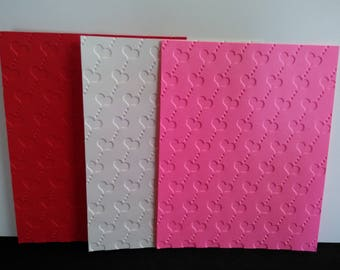 Heart Embossed Cardstocks