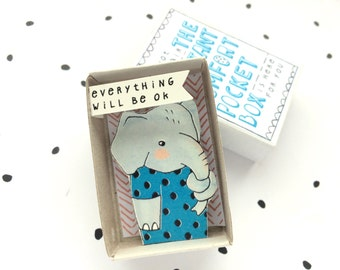 Olifant - The Instant Comfort Pocket Box - alles zal worden ok - troost of cheer doos - sympathie cadeau